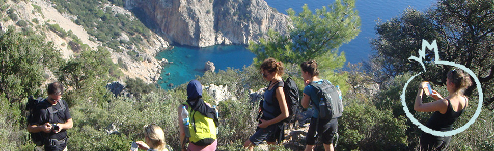 Walking along the Lycian coast.