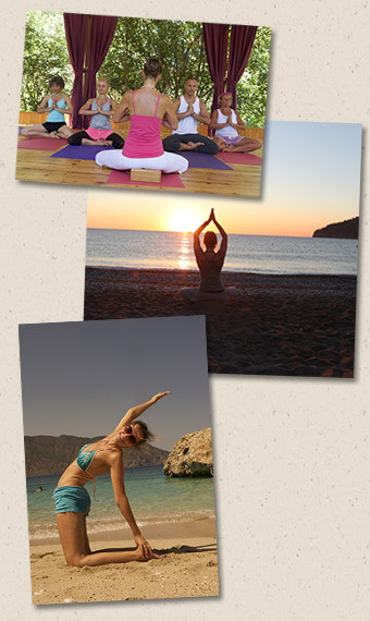 Yoga at the terrace and at the sea