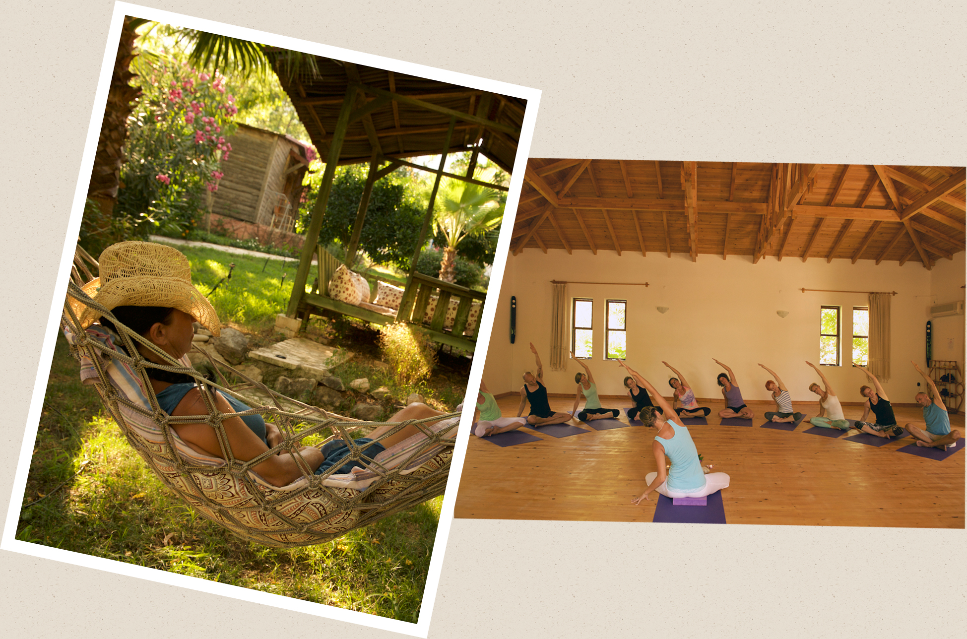 relax in a hammock and see our Yoga hall
